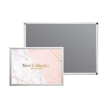 Açılır kapanır çerçeve  25 mm Profil, gümüş eloksallı, Gönye- / Rondo köşeli