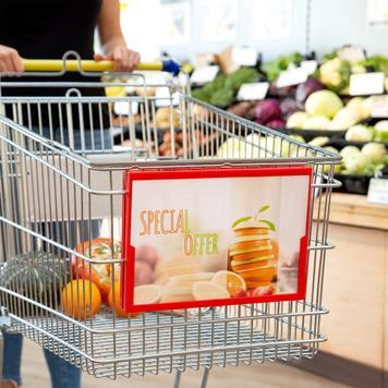 Alışveriş Arabası İçin Afiş Çerçevesi