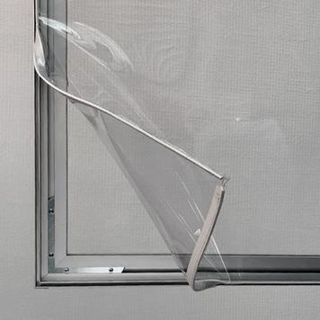 Şeffaf PVC afiş dahil Alüminyum Kaplama Çerçeveli Koruyucu Bölme