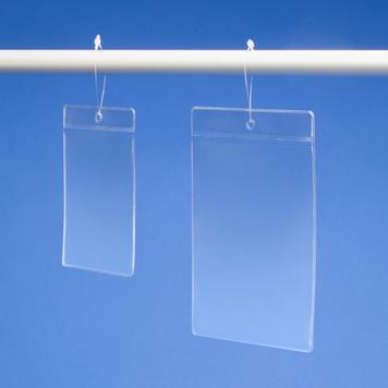 Yumuşak PVC'den tek girişli standart fiyat cebi
