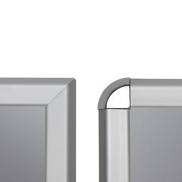 Açılır kapanır Çerçeve, 32 mm Profil,gümüş eloksallıt, Gönye- / Rondo köşeli